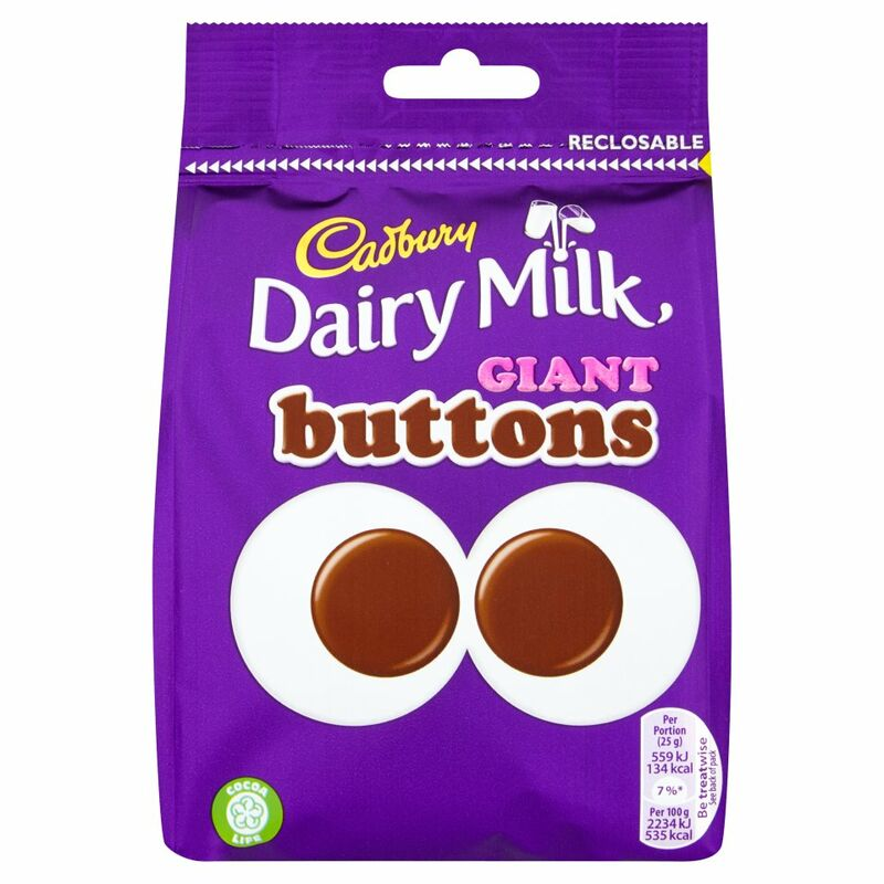 Cadbury Dairy Milk Giant Buttons Chocolate Bag 119g