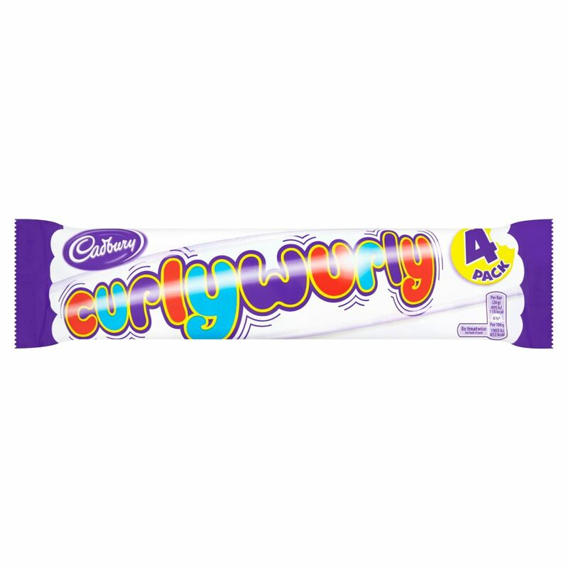 Cadbury Curly Wurly Chocolate Bar 4 Pack 104g