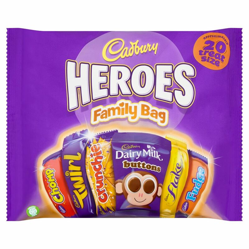 Cadbury Family Heroes 20 Treatsize Packs 278g