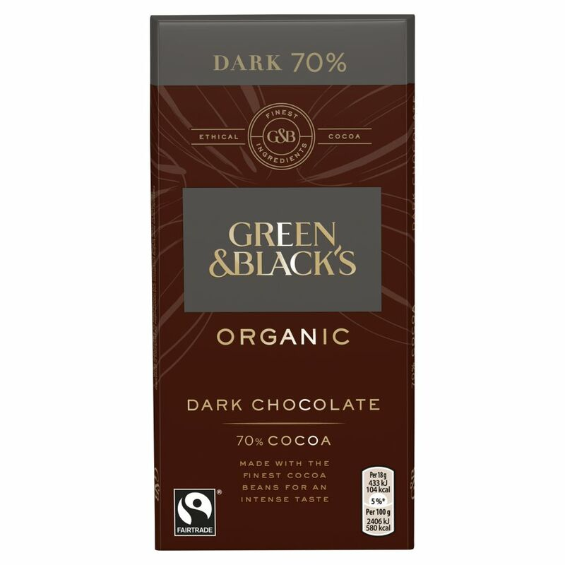 Green & Black's Organic 70% Dark Chocolate Bar 90g