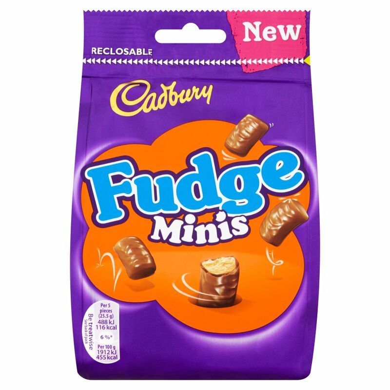 Cadbury Fudge Minis Chocolate Bag 120g
