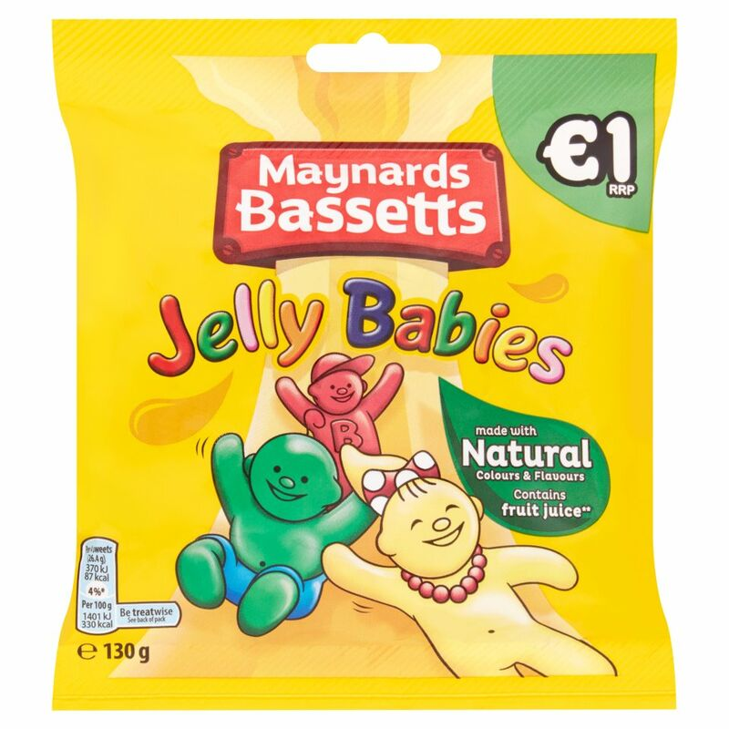 Maynards Bassetts Jelly Babies 130g