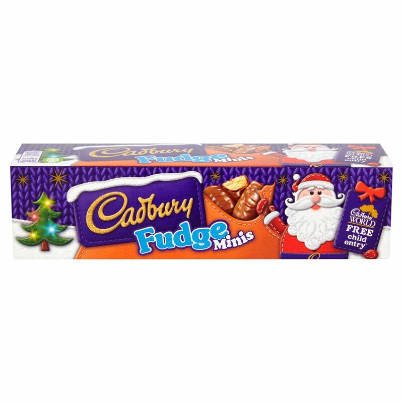 Cadbury Fudge Minis Chocolate Tube 72g