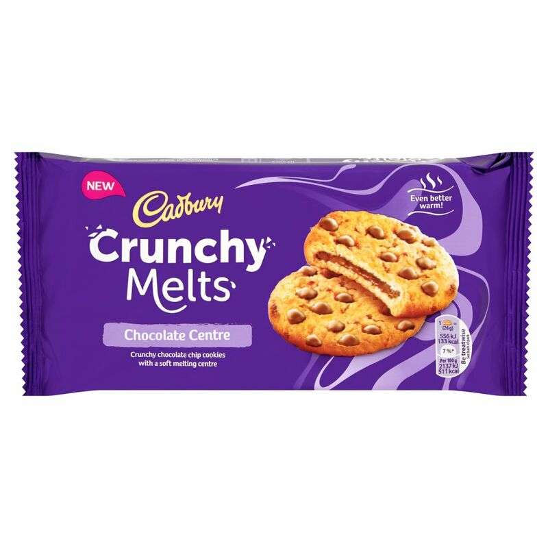 Cadbury Crunchy Melts Chocolate Centre Chocolate Chip Cookies 156g