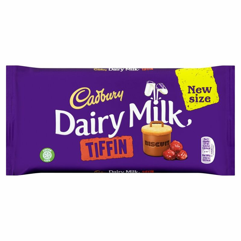 Cadbury Dairy Milk Tiffin Chocolate Bar 200g