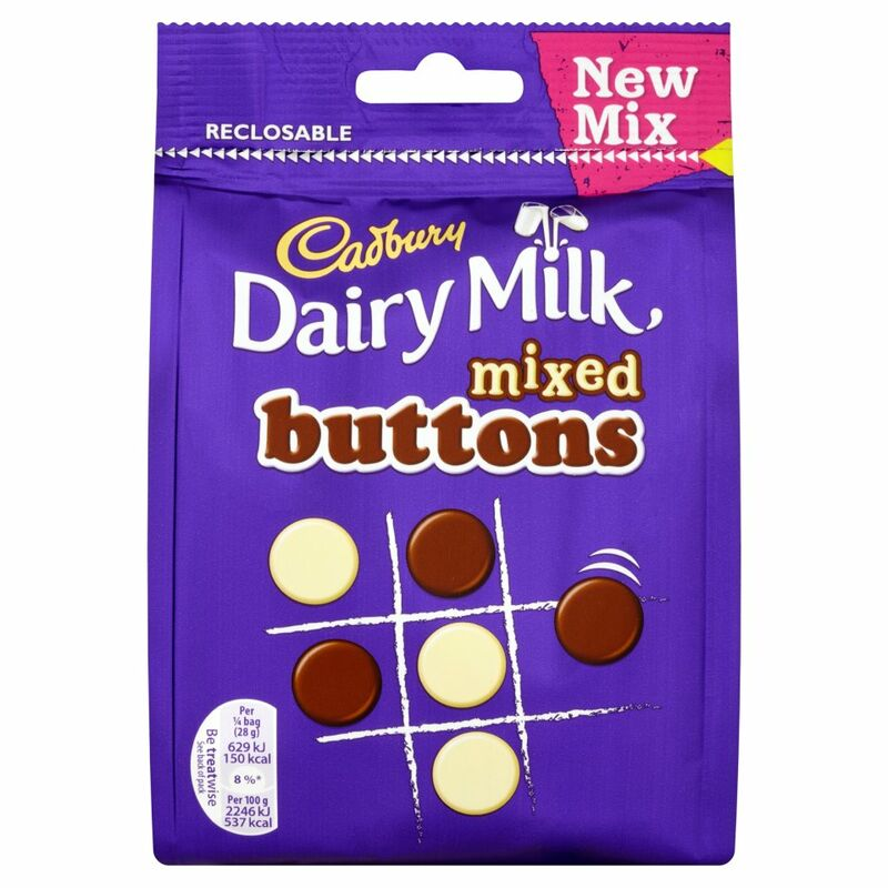 Cadbury Dairy Milk Mixed Buttons Bag 115g