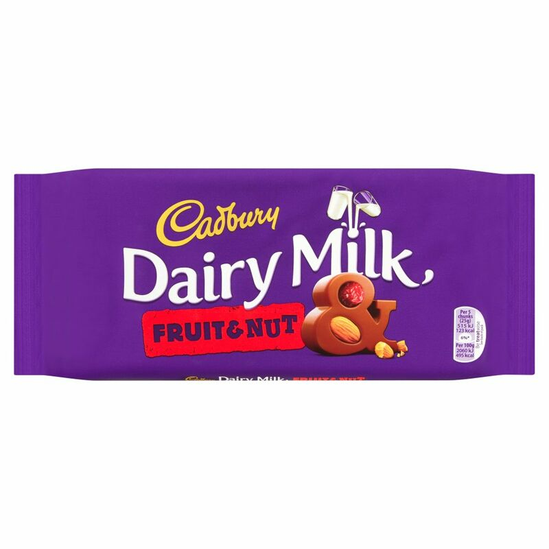 Cadbury Dairy Milk Fruit and Nut Chocolate Bar 200g
