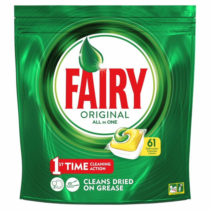 Fairy Original All In One Dishwasher Tablets Lemon x61
