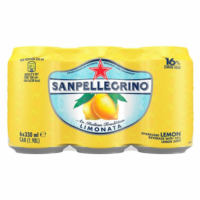 Sanpellegrino Sparkling Fruit Beverages Limonata 6 x 330ml Can