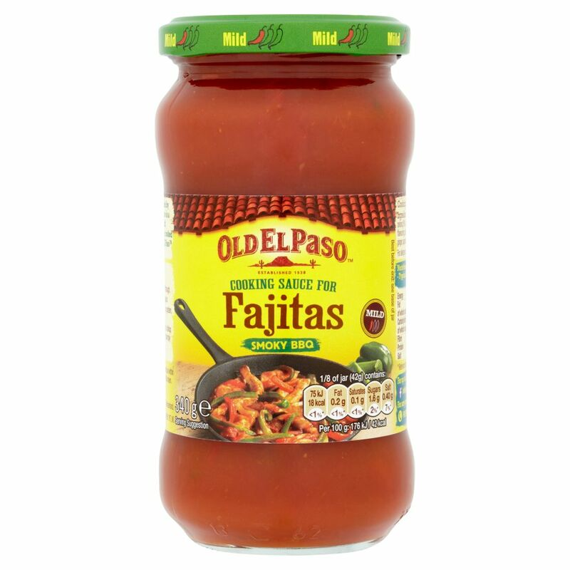 Old El Paso Cooking Sauce for Fajitas Smoky BBQ 340g