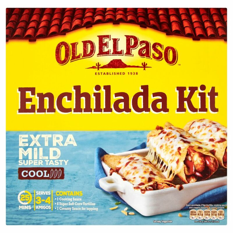 Old El Paso Enchilada Kit Extra Mild Super Tasty 585g