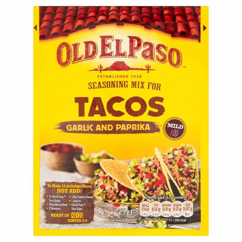 Old El Paso Seasoning Mix Taco 35g Centra
