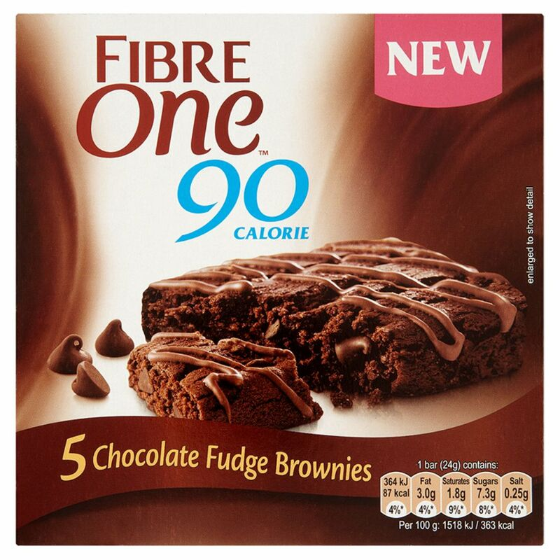 Fibre One 90 Calorie Chocolate Fudge Brownies 5 x 24g (120g)