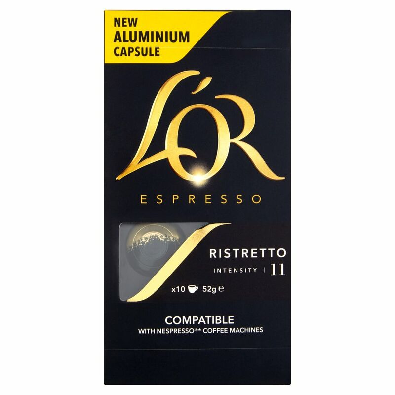 L'OR Espresso Ristretto, Intensity 11, 10 Aluminium Coffee Capsules