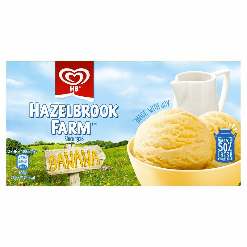 Hazelbrook Farm Banana Ice Cream Dessert 568ml