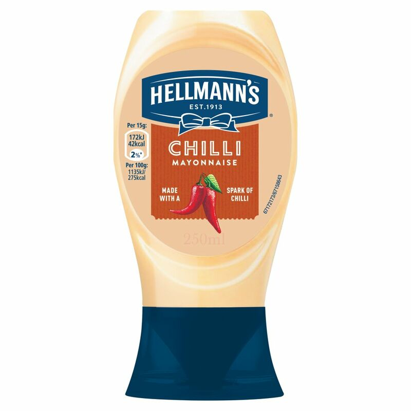 Hellmann's Chilli Squeezy Mayonnaise 250ml