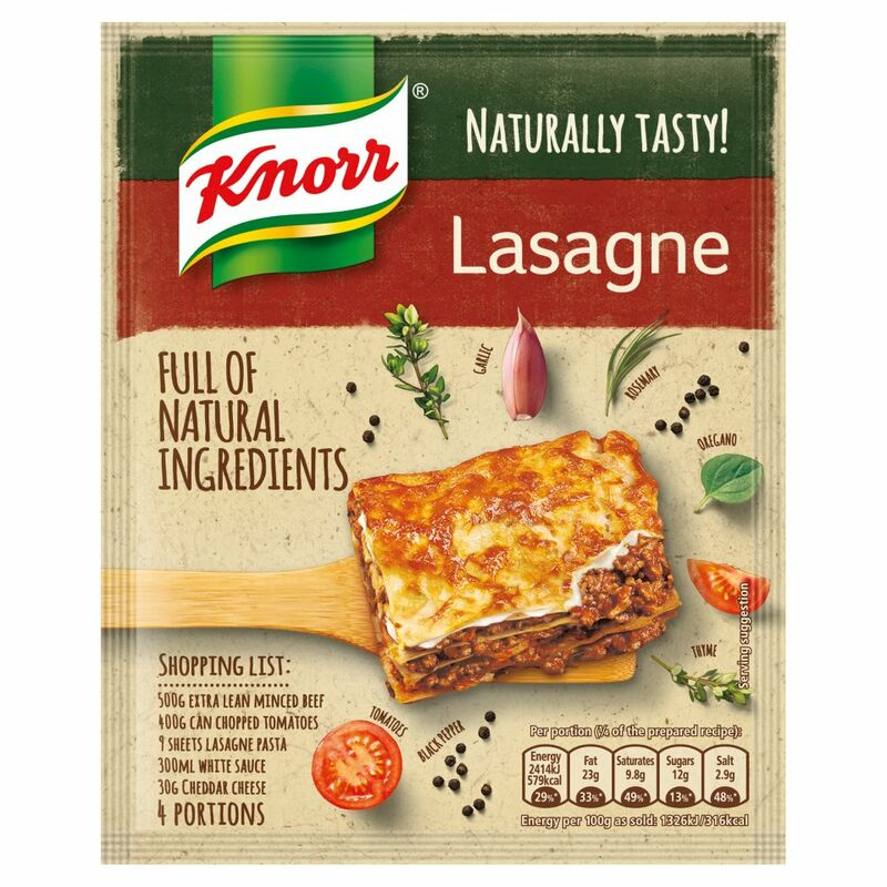 Knorr Naturally Tasty Lasagne Recipe Mix 60g