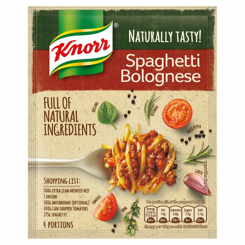 Knorr Naturally Tasty Spaghetti Bolognese Recipe Mix 43g