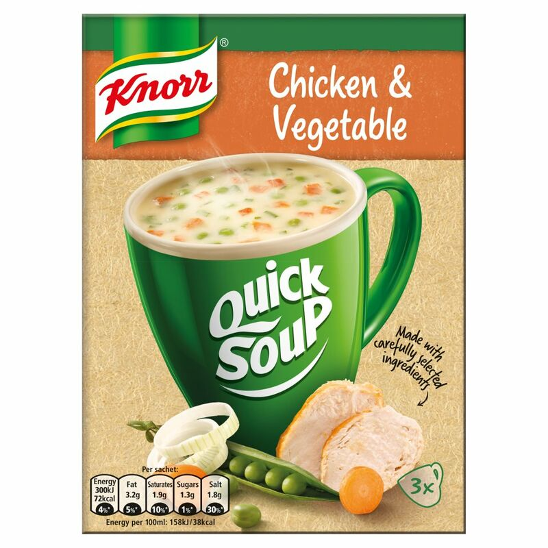 Knorr Quick Soup Chicken & Vegetable 3's 42g