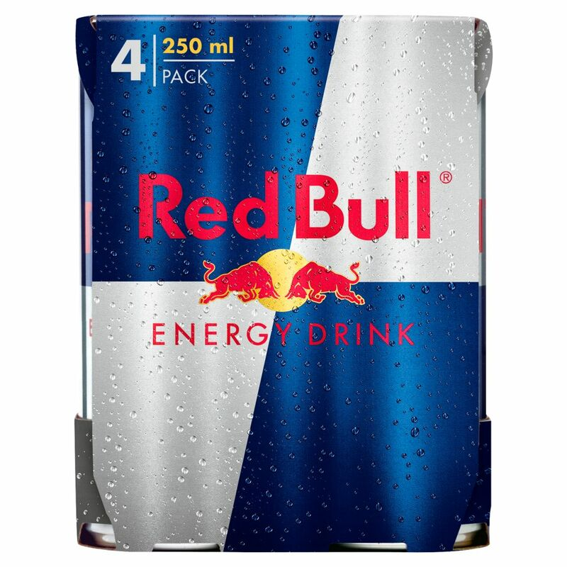 Red Bull Energy Drink, 4 x 250ml