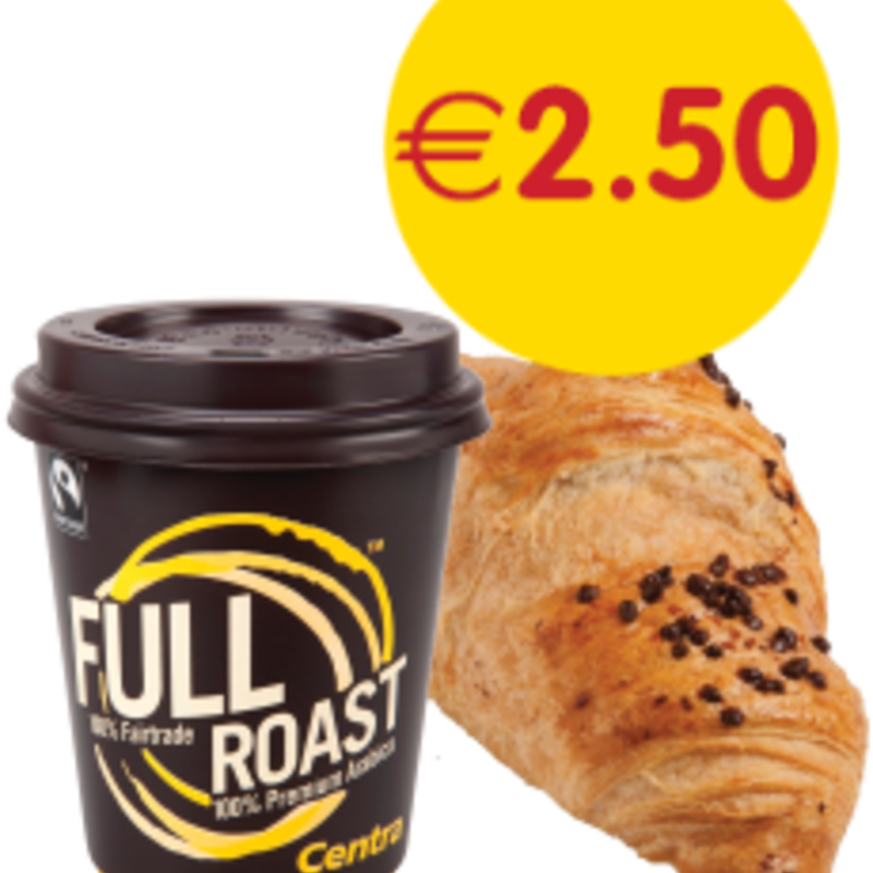 Centra Tea/Coffee + Chocolate Filled Crossiant