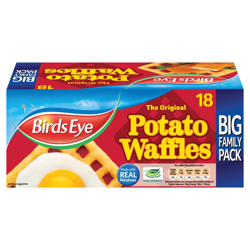 Birds Eye The Original 18 Potato Waffles 1.02kg