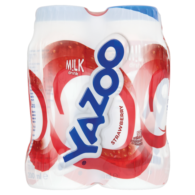 Yazoo Strawberry Milk Drink 4 x 200ml  800ml