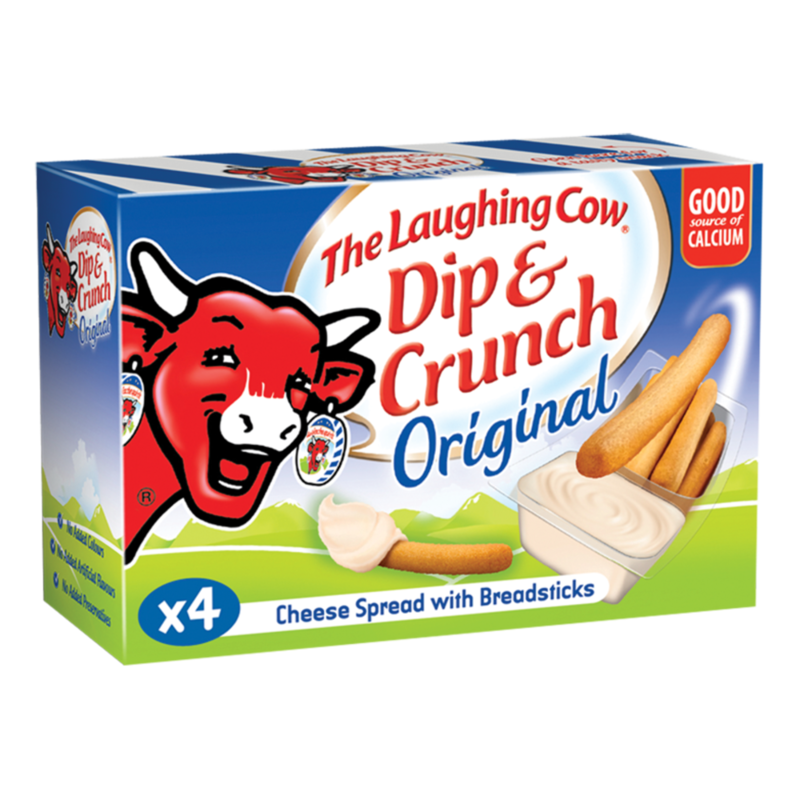 The Laughing Cow Dip   Crunch Original 4 x 35g