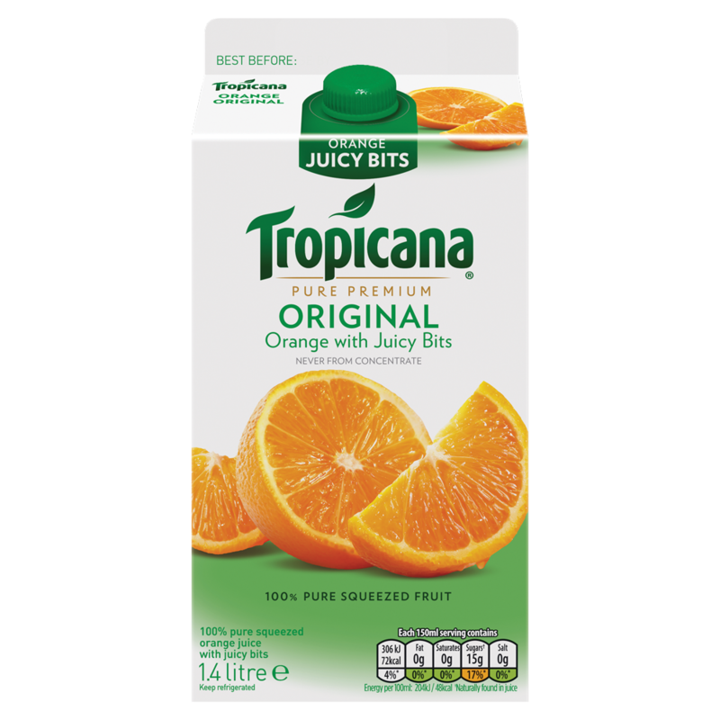 Tropicana Pure Premium Original Orange with Juicy Bits 1.4 Litre