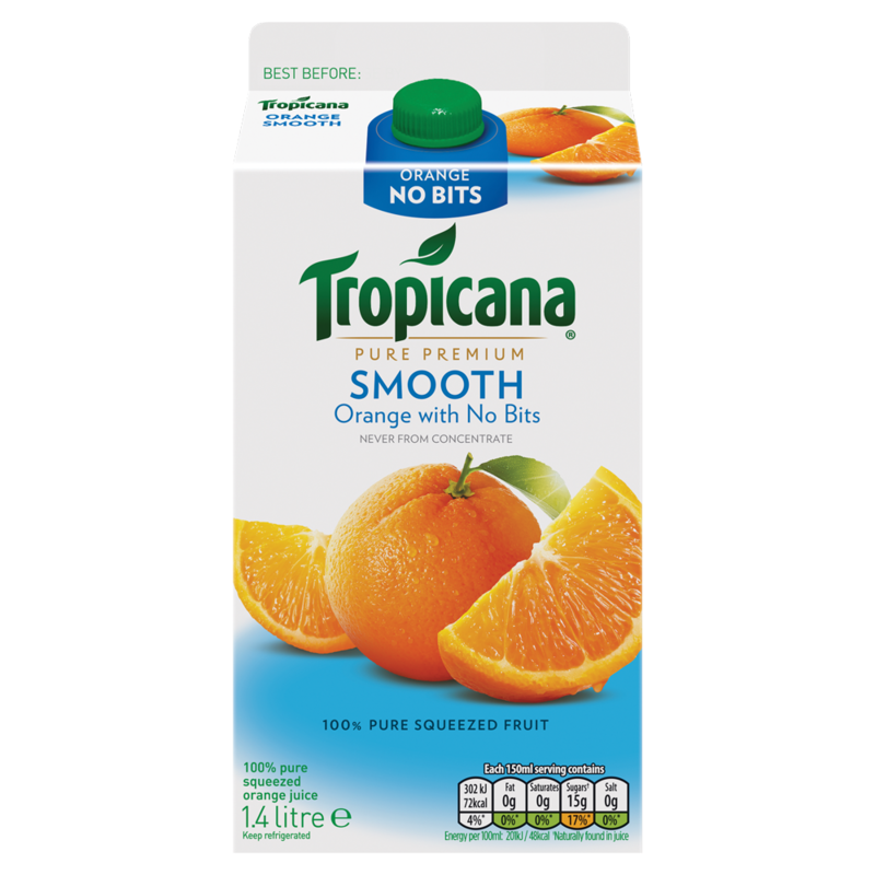 Tropicana Pure Premium Smooth Orange with No Bits 1.4 Litre