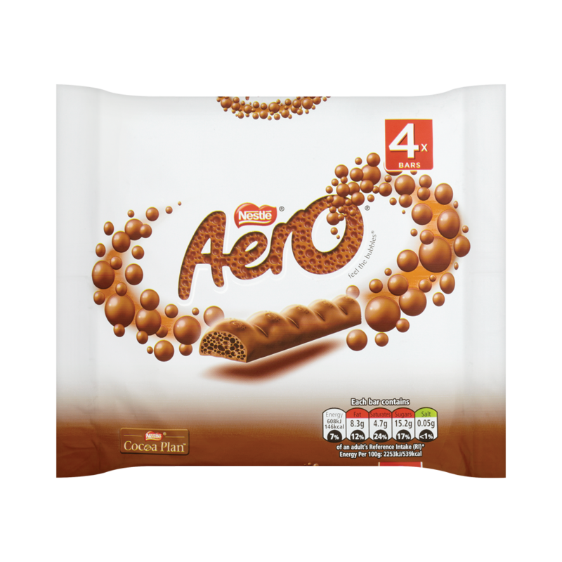 AERO Milk Chocolate Multipack 4 x 27g