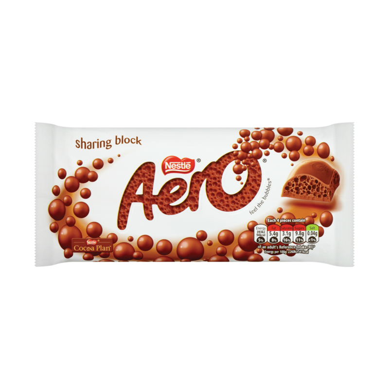 AERO Milk Chocolate Sharing Bar 120g