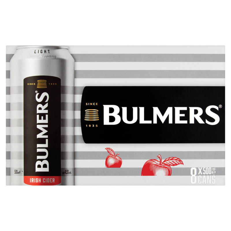 Bulmers Light 8pk Can 500ml