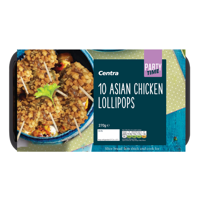 CT Frozen Party Food 10 Asian Chicken Lollipops