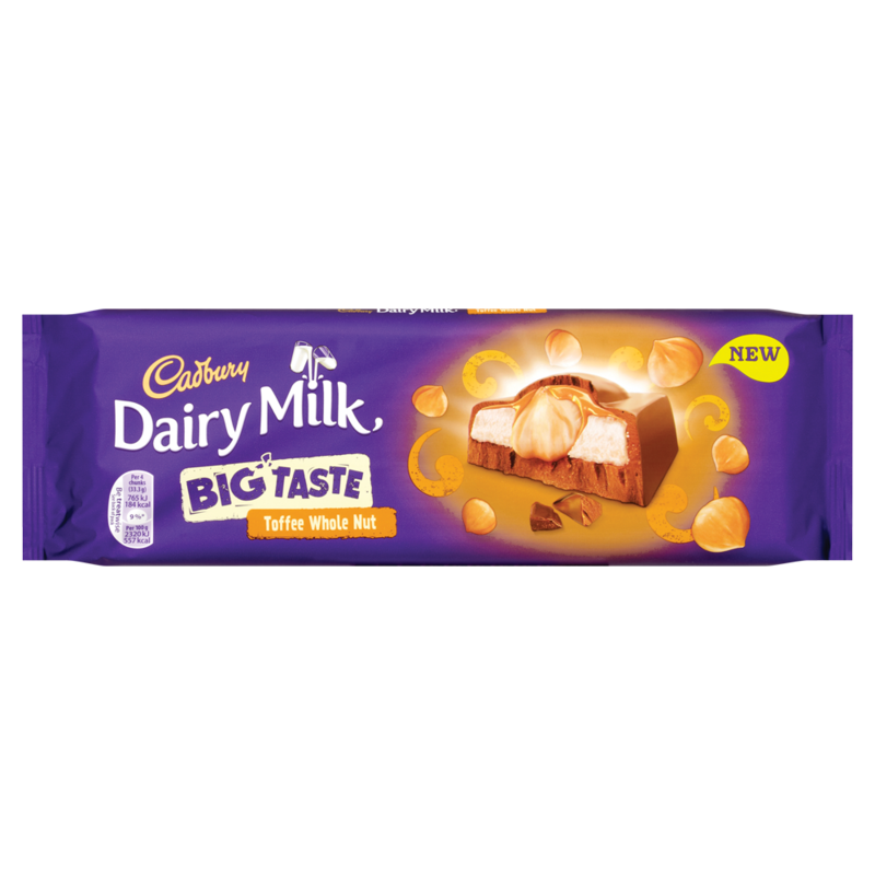 Cadbury Dairy Milk Big Taste Toffee Whole Nut 300g