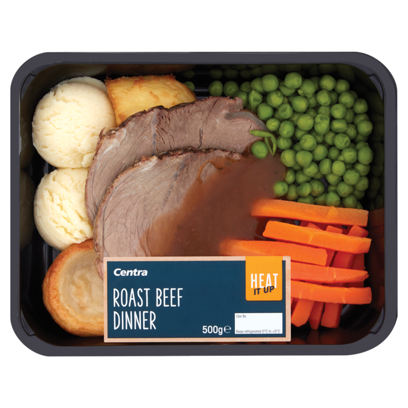 Centra Heat It Up Roast Beef Dinner 500g