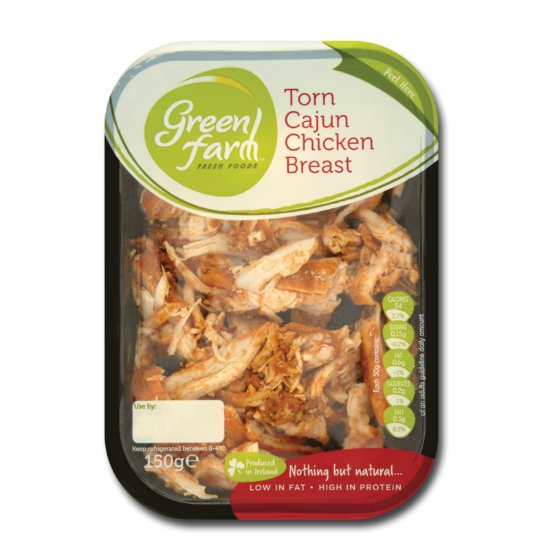 GreenFarm tornCajunChicken 150g