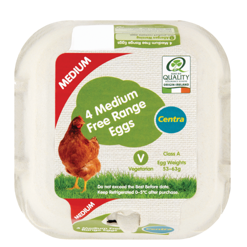 Centra 4 Medium Free Range Eggs