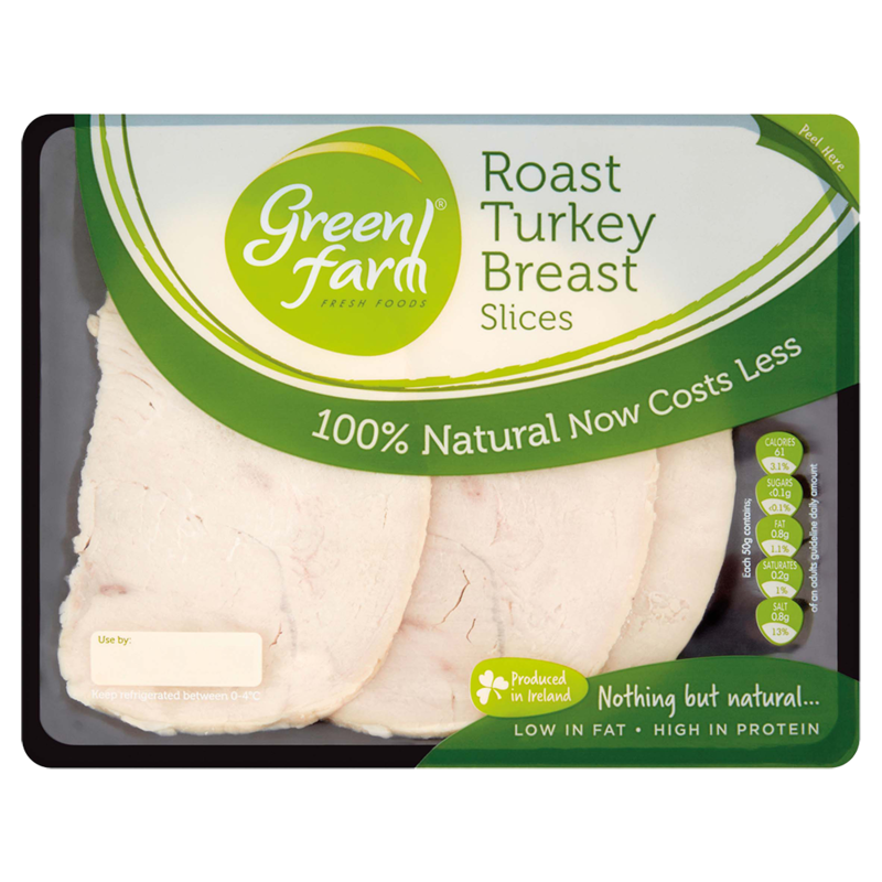 Green Farm Fresh Foods Roast Turkey Breast Slices 120g