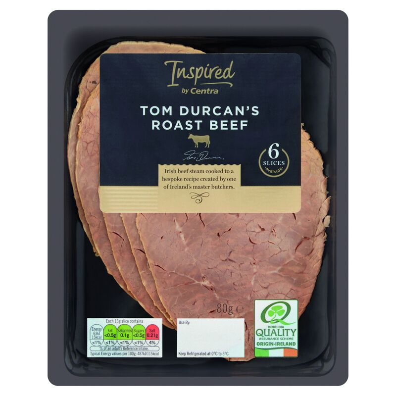 Inspired by Centra Tom Durcans Roast Beef 80g