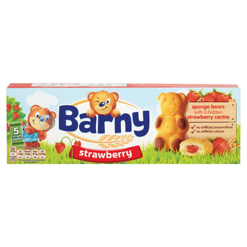 Barny Strawberry Sponge Bear 5 Pack 150g