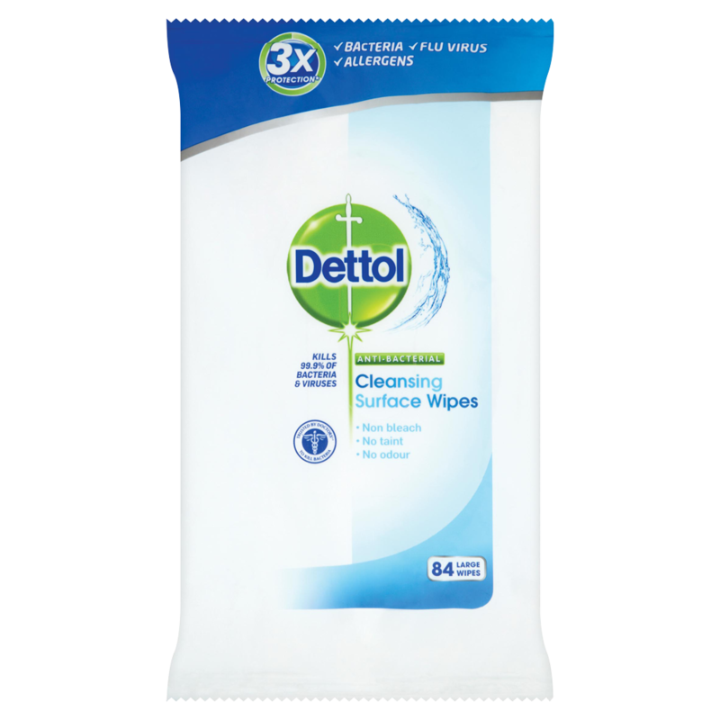 Dettol Antibacterial Wipes Surface Cleanser 84ea