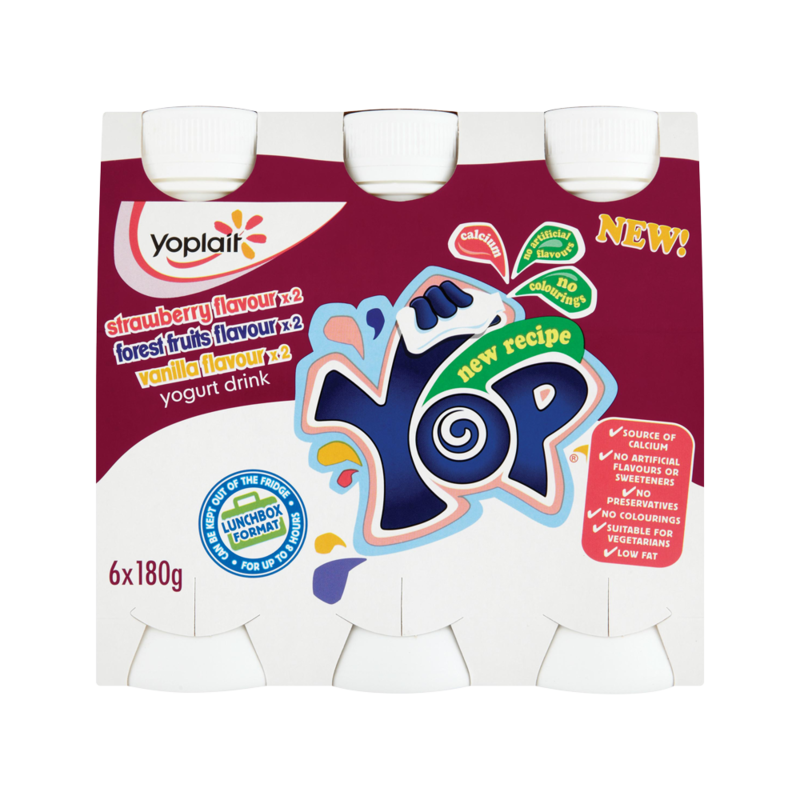 Yoplait Yop Strawberry  Forest Fruits   Vanilla Fl