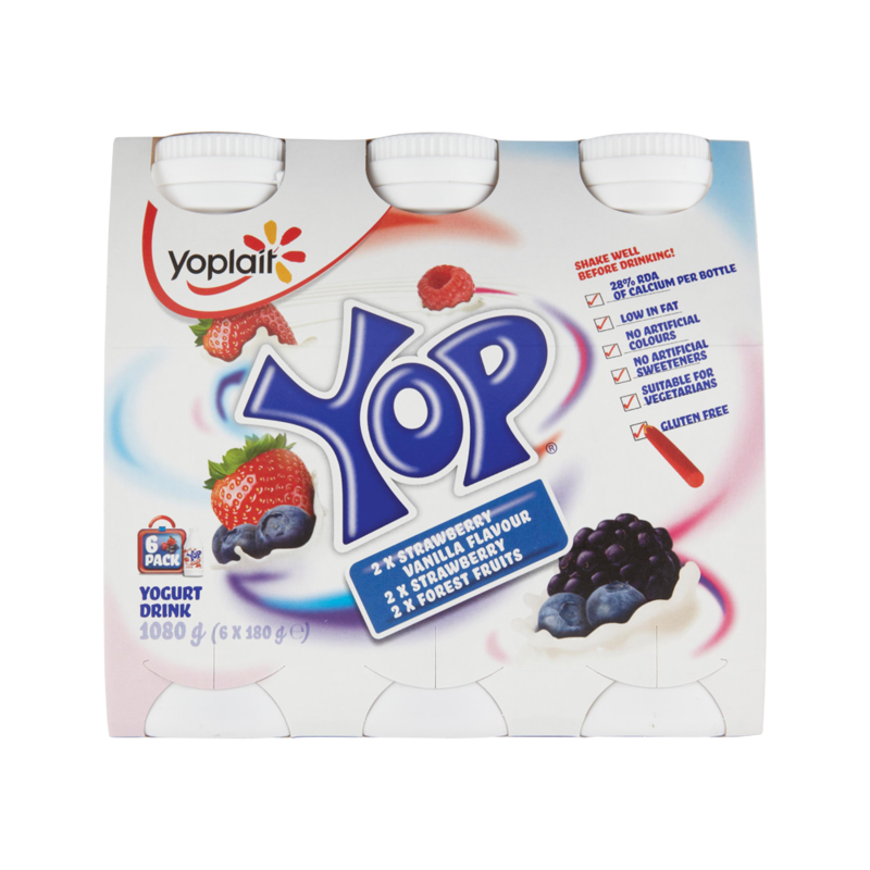 Yoplait Yop Variety Pack 6 x 180g