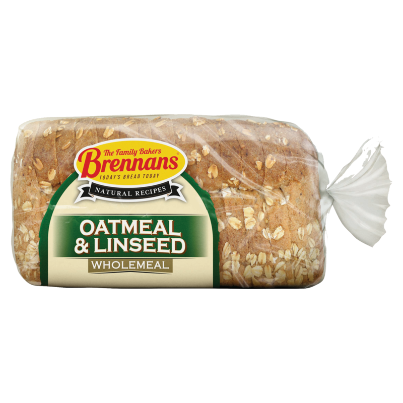 Brennans Natural Recipe Wholemeal with Oatmeal   Linseed 500g