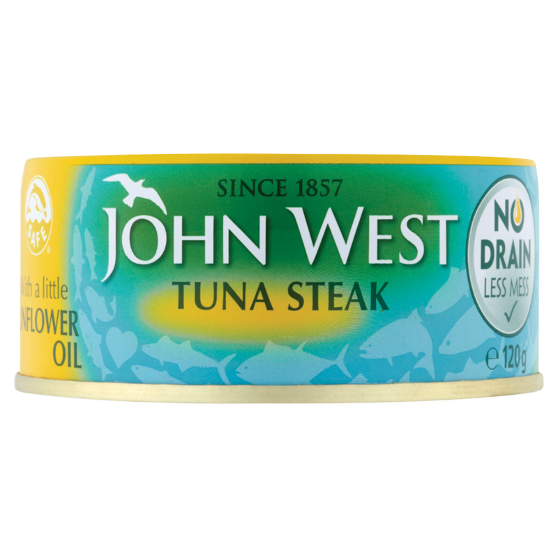 John West No Drain Tuna Steak with a Little Sunflo