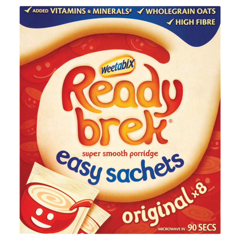 Weetabix Ready Brek Super Smooth Porridge Original 8 x 30g  240g