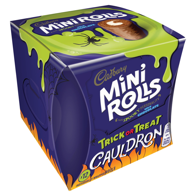 Cadbury 12 Mini Rolls Milk Chocolate Trick or Treat Cauldron