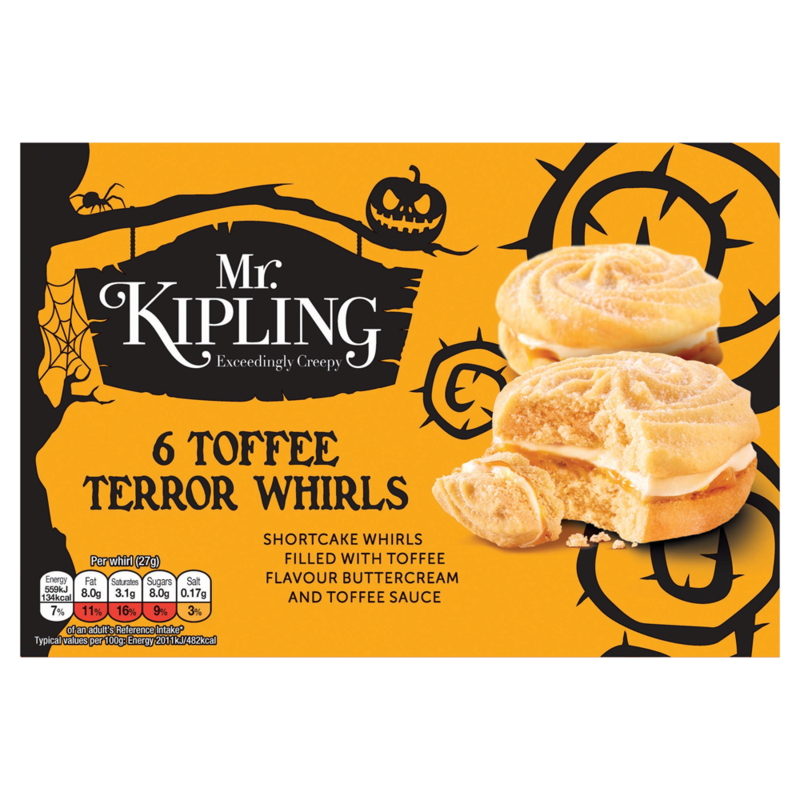Mr. Kipling Exceedingly Creepy 6 Toffee Terror Whirls