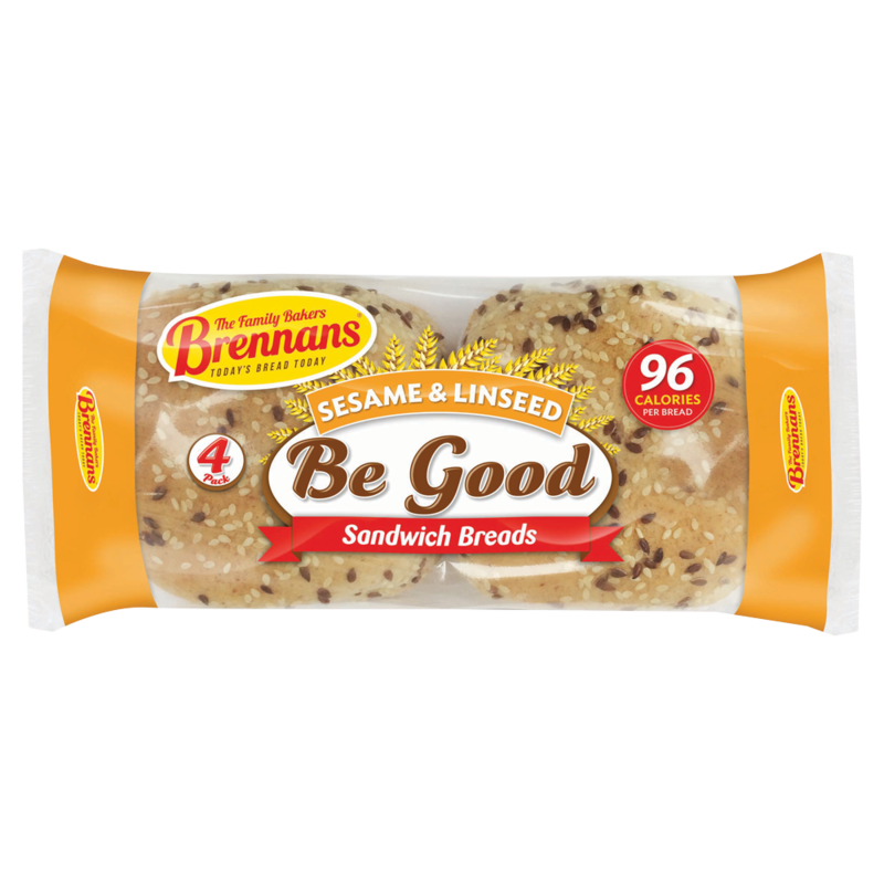 Brennan s   Be Good Sesame   Linseed 168g